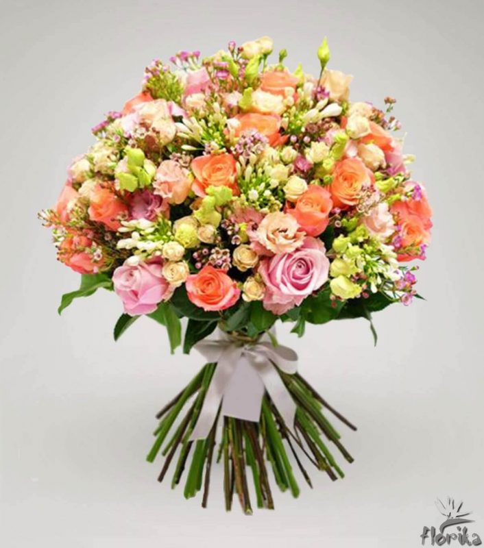 Rožių puokštės internetu