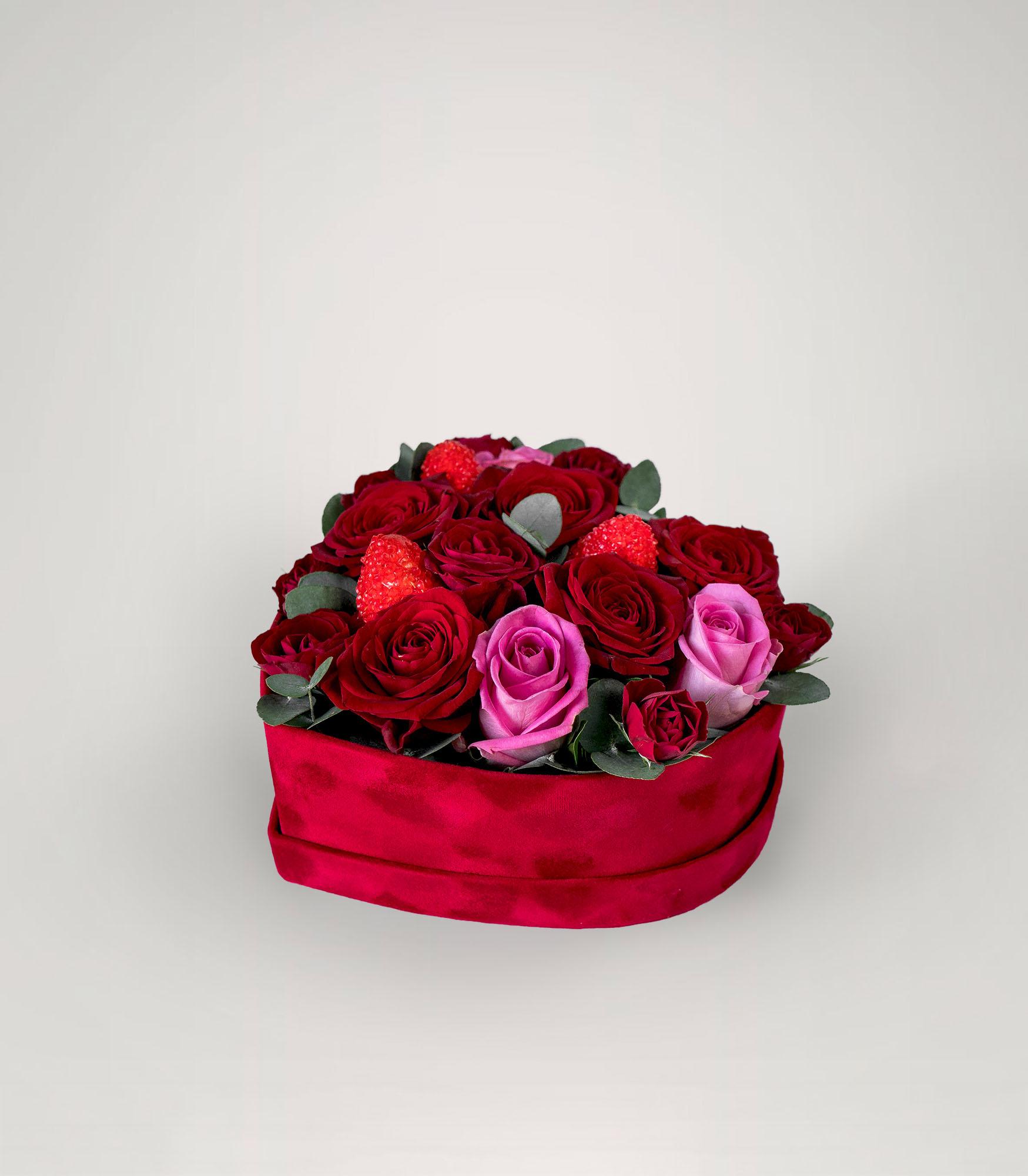 Širdies formos gėlių dėžutė